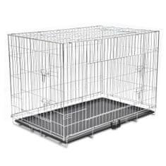 Składana, metalowa klatka dla psa, rozmiar XXL