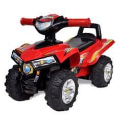 shumee Czerwony quad jeździk dla dzieci, ze światłem i dźwiękiem