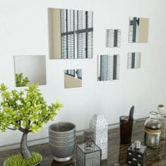 Vidaxl Sada nástěnných zrcadel 7 kusů čtvercové sklo