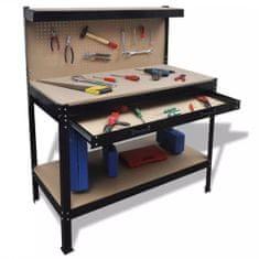 shumee Pracovní stůl s děrovanou deskou a zásuvkou