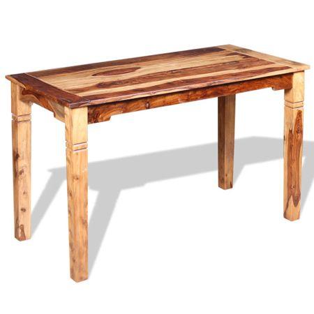 shumee Jedilna miza iz masivnega palisandra 120x60x76 cm