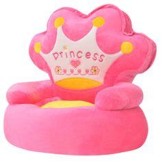 """shumee Detské plyšové kreslo """"Princess"""", ružové"""