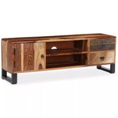 Szafka pod telewizor, lite drewno sheesham, 120 x 30 x 40 cm