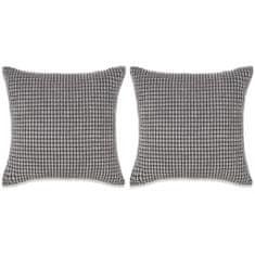 2-częściowy zestaw poduszek, welur, 45x45 cm, szary