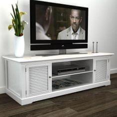 Stolik pod TV, drewniany, biały