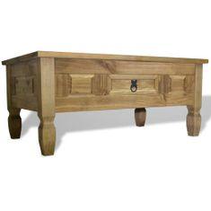 Konferenčný stolík z borovice v mexickom štýle Corona, 100x60x45 cm