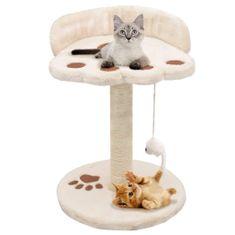Drapak dla kota z sizalowym słupkiem, 40 cm, beżowo-brązowy