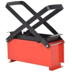 shumee Brykieciarka do papieru, stalowa, 34x14x14 cm, czarno-czerwona