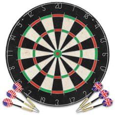 shumee szizálból készült professzionális darts tábla 6 nyíllal