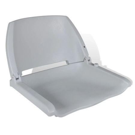 Składany fotel na łódź, szary, 41x51x48 cm