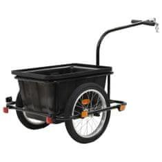 Přívěsný vozík za kolo černý 50 l