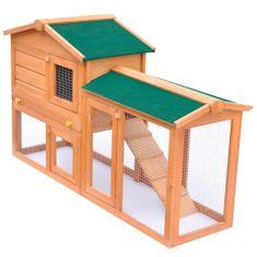 Veľká vonkajšia králikáreň/klietka pre zvieratá, drevená