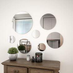 shumee Sada nástěnných zrcadel 7 kusů kulaté sklo