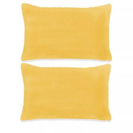 shumee Poduszki ozdobne, 2 szt., welur, 40x60 cm, żółty