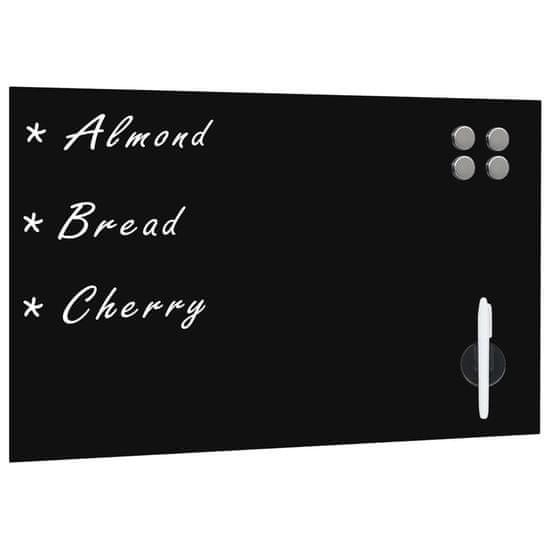 shumee Nástěnná magnetická černá tabule skleněná 60 x 40 cm