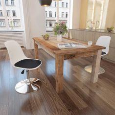 Otočné jedálenské stoličky 2 ks, bielo čierne, umelá koža