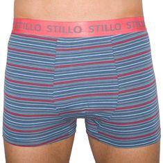 Stillo Pánske boxerky sivé s červenými prúžky (STP-010)