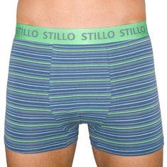 Stillo Pánske boxerky sivé so zelenými prúžky (STP-010)
