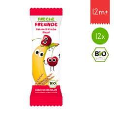 Freche Freunde BIO Ovocná tyčinka - Banán a třešeň 12x23g