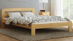 Importworld Dřevěná postel Monika 120x200 + rošt ZDARMA - borovice
