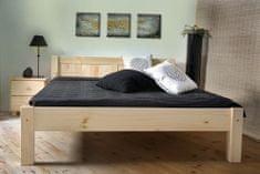 Importworld Dřevěná postel Metoděj 140x200 + rošt ZDARMA - borovice