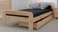 Importworld Dřevěná postel Nora 90x200 + rošt ZDARMA - borovice