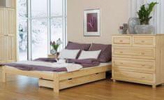 Importworld Dřevěná postel Libuše 120x200 + rošt ZDARMA - Borovice