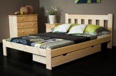 Importworld Dřevěná postel Markéta 120x200 + rošt ZDARMA - borovice
