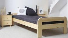 Importworld Dřevěná postel Bořek 90x200 + rošt ZDARMA - Borovice
