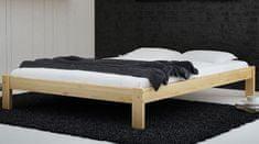 Importworld Dřevěná postel Naliano 140x200 + rošt ZDARMA - borovice