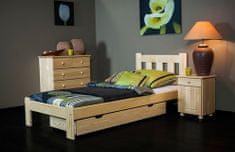Importworld Dřevěná postel Markéta 90x200 + rošt ZDARMA - borovice