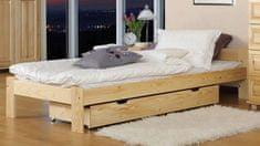 Importworld Dřevěná postel Libuše 90x200 + rošt ZDARMA - Borovice