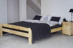 Importworld Dřevěná postel Bořek 140x200 + rošt ZDARMA - Borovice