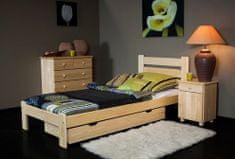 Importworld Dřevěná postel Anna 90x200 + rošt ZDARMA - Borovice