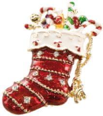 Goebel Vánoční brož Vánoční ponožka Goebel