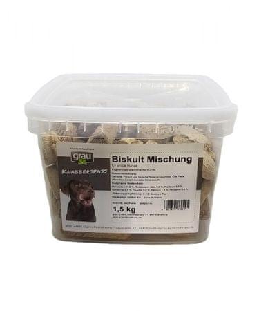Grau Mix piškoti za velike pse, 1,5 kg