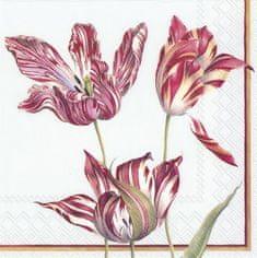 IHR Three Tulips světle modré papírové ubrousky
