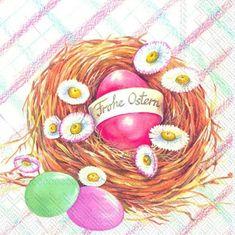IHR Veselé Velikonoce papírové ubrousky