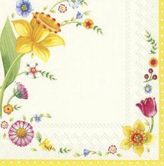Villeroy & Boch Spring Fantasy Flowers Velikonoční papírové ubrousky, IHR