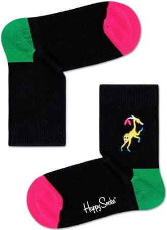 Happy Socks Skarpety dziewczęce Monkey Embroidery Sock 33 - 35 różowe