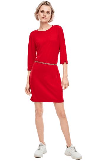 Q/S designed by dámské šaty 41.002.82.2558 XL červená