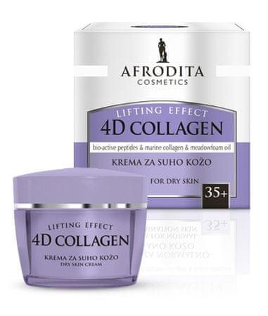 Kozmetika Afrodita 4D Collagen Lifting krema za suho kožo, 50 ml