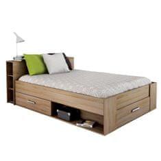 IDEA Multifunkční postel POCKET 140x200 dub