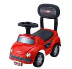 Teddies Odrážedlo auto plast červené výška sedadla 20cm v krabici 48x23,5x22,5cm 12-35m