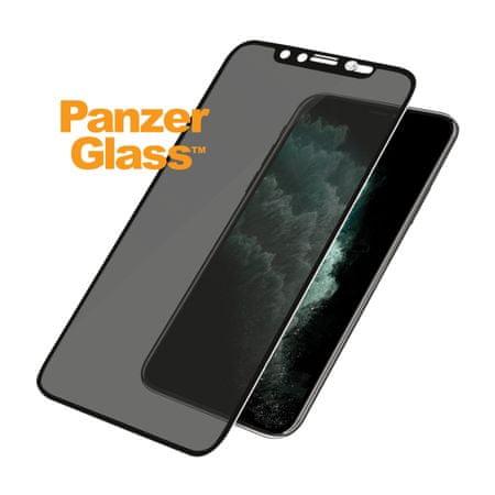 PanzerGlass szkło ochronne Edge-to-Edge dla Apple iPhone Xs Max/11 Pro Max czarne Swarovski CamSlider (P2682)