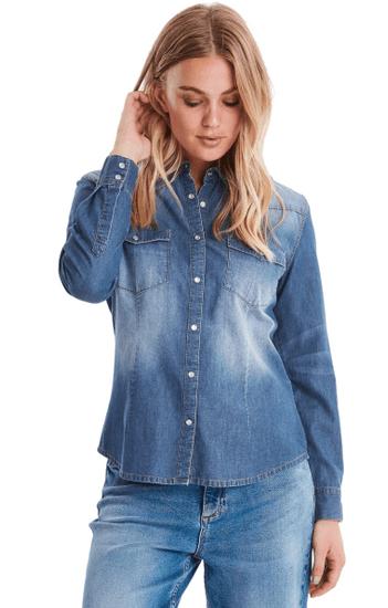 b.young dámska košeľa Denni Western 20807407 34 modrá