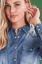 3 - b.young dámska košeľa Denni Western 20807407 34 modrá