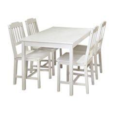 IDEA nábytek Stůl + 4 židle 8849 bílý lak