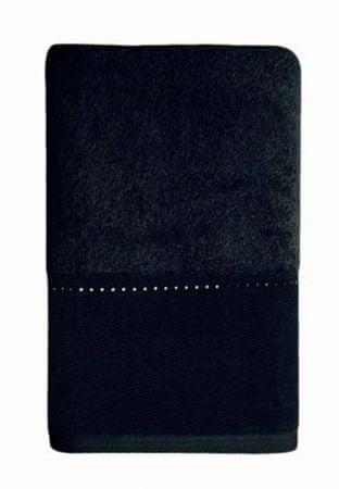 Möve Luksusowy ręcznik z linią kryształków Swarovskiego 30x50 cm w kolorze czarnym