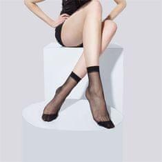 Pesail Dámske silonky - ponožky 10 párov - čierna
